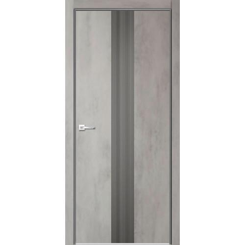 Межкомнатная дверь Севилья 16 Глухое, цвет бетон светлый