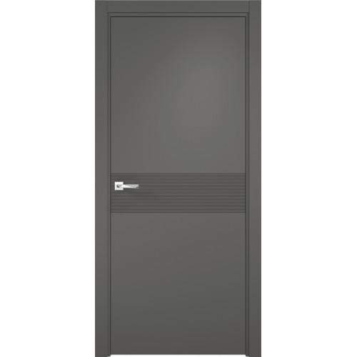 Межкомнатная дверь Севилья 17 Глухое, цвет софт графит